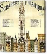 Sky Scrapers Of Philadelphia 1896 Canvas Print