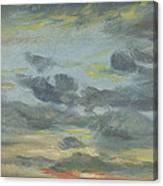 Sky Study, Sunset, 1821-22 Canvas Print