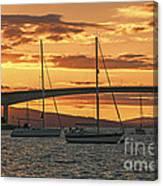 Skye Bridge Sunset Canvas Print