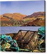 Skye Fishing Pots Canvas Print
