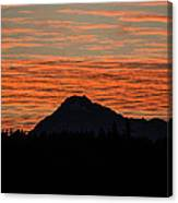 Skyfire Over The Olympic Mountains Canvas Print