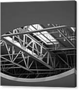 Skylight Gurders In Black And White Canvas Print