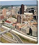 Skyline Aerial Of St. Paul Minnesota Canvas Print