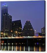 Skyline And Bridge In Austin Canvas Print