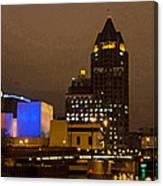 Skyline At The Milwaukee River Canvas Print