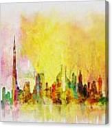 Skyline Collage  Canvas Print