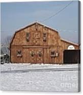 Skyline Farm Horse Barn Canvas Print