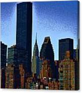 Skyline From Roosevelt Island Canvas Print