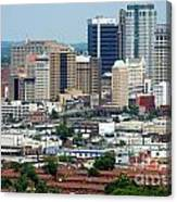 Skyline Of Birmingham Canvas Print