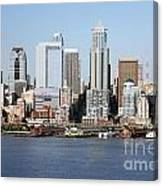 Skyline Of Seattle Canvas Print