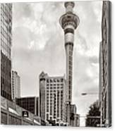 Sky Tower's Queen St Couple.nz Canvas Print