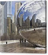 Skyline Reflected Canvas Print