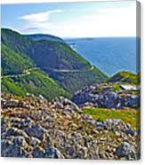 Skyline Trail And Road Through Cape Breton Highlands Np-ns Canvas Print