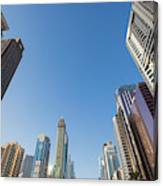 Skyscrapers Along Sheikh Zayed Road Canvas Print