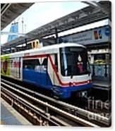 Skytrain Carriage Metro Railway At Nana Station Bangkok Thailand Canvas Print