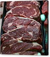 Slabs Of Raw Meat - 5d20691 Canvas Print