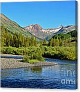 Slate River View Canvas Print
