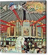 Slater Park Carousel Rounding Board Canvas Print
