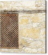 Slatted Window Canvas Print