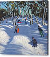 Sledging At Ladmanlow Canvas Print