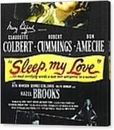 Sleep, My Love, Us Poster, Bottom Canvas Print