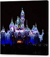 Sleeping Beauties Castle At Christmas Canvas Print