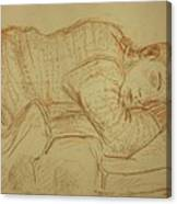 Sleeping Figure Canvas Print