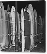 Sleeping Surfboards Canvas Print