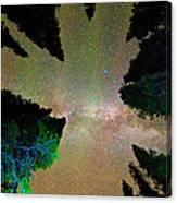 Sleeping Under The  Milky Way Stars Canvas Print
