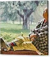 Sleeping Woman Canvas Print