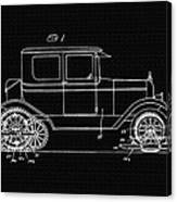 Sleigh Attachment For Motor Vehicles Support Patent Drawing From 1926 2 Canvas Print