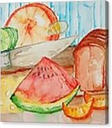 Slice It Canvas Print