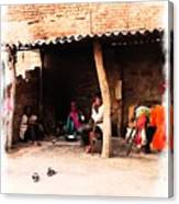 Slice Of Life Mud Oven Chulha Tandoor Indian Village Rajasthani 1b Canvas Print