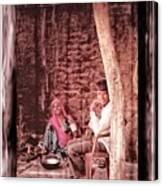 Slice Of Life Mud Oven Chulha Tandoor Indian Village Rajasthani 1c Canvas Print