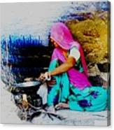 Slice Of Life Mud Oven Chulha Tandoor Indian Village Rajasthani 2 Canvas Print