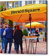 Slice Of Life Nyc-herald Square Canvas Print