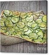 Sliced Pizza With Zucchini Canvas Print