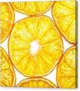 Slices Orange. Canvas Print