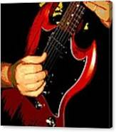Red Gibson Guitar Canvas Print