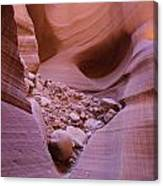 Slip Rock In Antelope Canyon Canvas Print