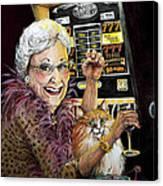 Slot Machine Queen Canvas Print