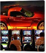 Slots Players In Vegas Canvas Print