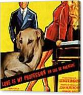 Sloughi Art - Love Is My Profession Movie Poster Canvas Print