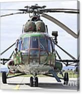 Slovakian Mi-17 With Digital Camouflage Canvas Print