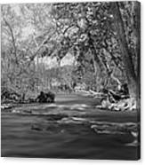 Slow Down At The River Canvas Print