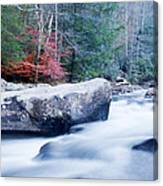 Slow Motion Stream Canvas Print