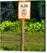 Slow No Wake Canvas Print