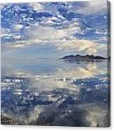 Slow Ripples Over The Shallow Waters Of The Great Salt Lake Canvas Print