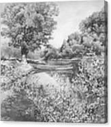 Slow River  Canvas Print
