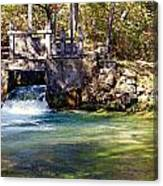 Sluice Gate At Alley Spring Canvas Print